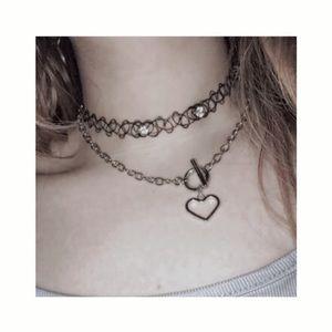 ੈ♡˳  heart chains choker  ੈ♡˳